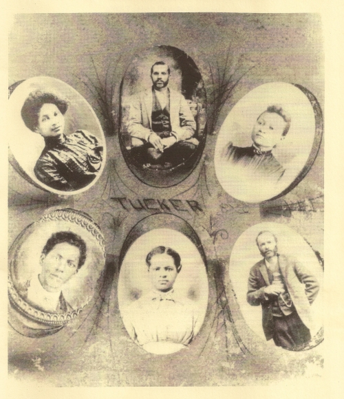 Clockwise from top: Henry, Alice, Adolphus, Brooksie, George, and Drusiller Tucker